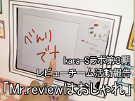 kara-Sラボ第3期レビューチーム活動報告「Mr.reviewはおしゃれ」
